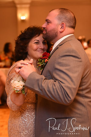 Jon and his mother dance during his October 2018 wedding reception at Twelve Acres in Smithfield, Rhode Island.
