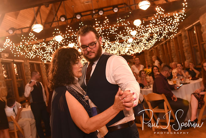 Rob and his mother dance during his October 2018 wedding reception at The Towers in Narragansett, Rhode Island.