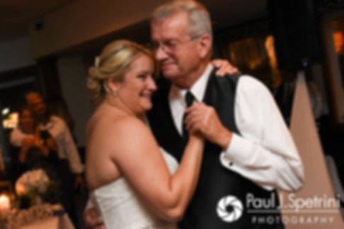 Jennifer and her father dance during her September 2017 wedding reception at Oceanside at the Pier in Narragansett, Rhode Island.