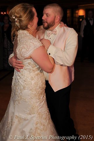 Kerry and Adam dance at their fall wedding at Quidnessett Country Club in North Kingstown, Rhode Island on October 23rd, 2015.