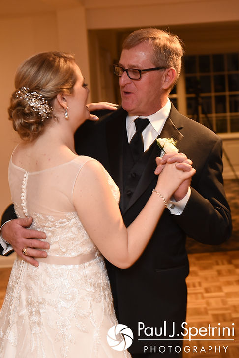 Melissa dances with her father during her May 2017 wedding reception at Independence Harbor in Assonet, Massachusetts.