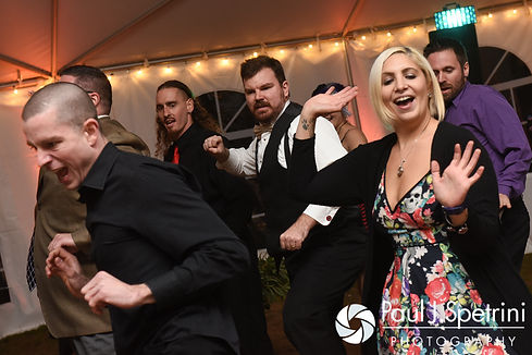 """JD and his theater group perform """"Thriller"""" during his October 2016 wedding reception at The Farm at SummitWynds in Jefferson, Massachusetts."""
