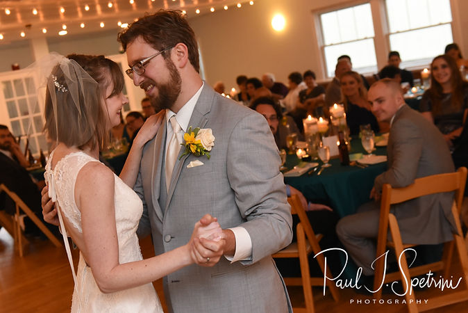 Amber & Justin dance during their June 2018 wedding reception at North Beach Clubhouse in Narragansett, Rhode Island.