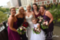 Meghan poses for a photo with her bridesmaids at the Biltmore in Providence, Rhode Island prior to her September 2018 wedding ceremony at Immaculate Conception Church in Cranston, Rhode Island.