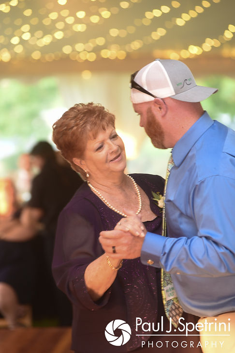 Tim dances with his mother during his June 2017 wedding reception at Farmhouse-By-The-Sea in Matunuck, Rhode Island.