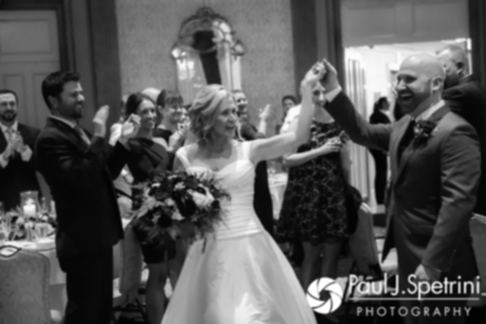 Tricia and Kevin are introduced during their October 2017 wedding reception at the Providence Biltmore in Providence, Rhode Island.
