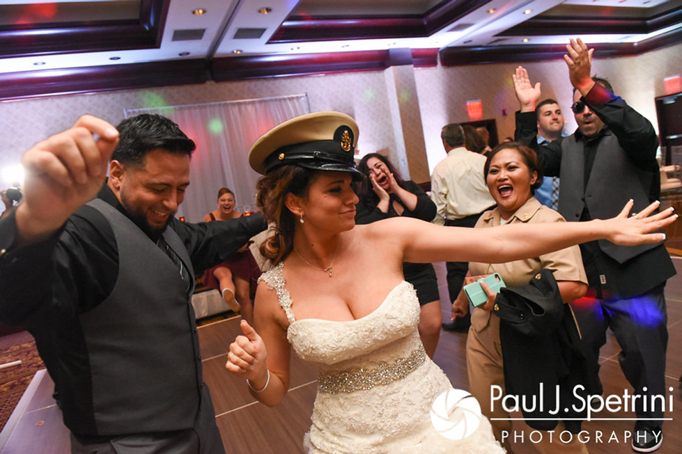 Nicky dances during her September 2017 wedding reception at the Crowne Plaza Hotel in Warwick, Rhode Island.