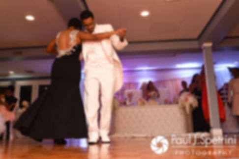 Luis dances with his mother during his June 2017 wedding reception at Al's Waterfront Restaurant in East Providence, Rhode Island.