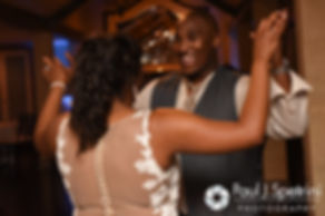 Kemi and Warren dance during their August 2016 wedding reception at the Villa at Riddler Country Club in East Bridgewater, Massachusetts.