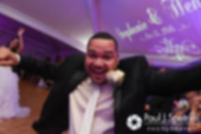 Henry gets ready to party during his October 2016 wedding reception at Lake Pearl Luciano's in Wrentham, Massachusetts.