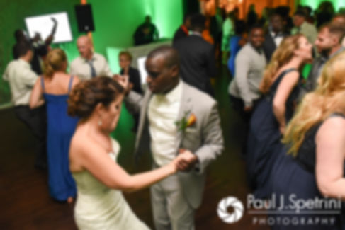 Kevin and Kristina dance with guests during his October 2017 wedding reception at the Villa Ridder Country Club in East Bridgewater, Massachusetts.