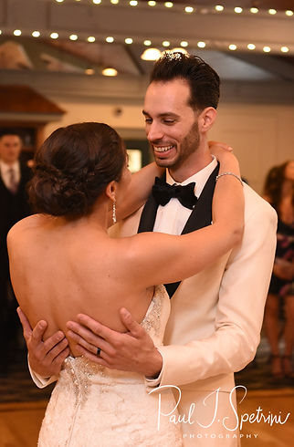 Kendra & Joe dance during their May 2018 wedding reception at Crystal Lake Golf Club in Mapleville, Rhode Island.