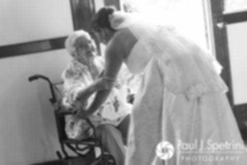 Molly kisses her grandmother during her June 2017 wedding ceremony at Saint Romuald Chapel in Matunuck, Rhode Island.