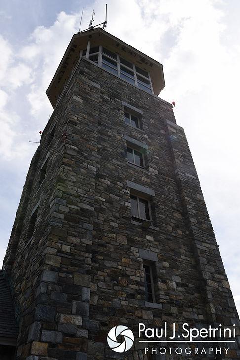 A look at the Quabbin Reservoir Observation Tower in Belchertown, Massachusetts during Amanda and Chris' July 2nd, 2016 wedding.