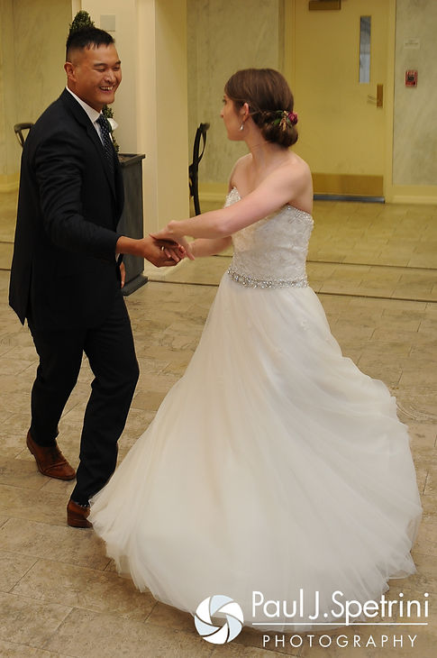 Dan and Simonne share their first dance at their June 2016 wedding in Providence, Rhode Island.