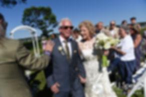 Bob and Debbie are congratulated following their June 2016 wedding in Barrington, Rhode Island.