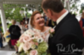 Patti smiles following her August 2018 wedding ceremony at the Walter J. Dempsey Memorial Bandstand in Norwood, Massachusetts.