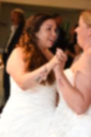 Laura & Marijke dance together during their June 2018 wedding reception at Independence Harbor in Assonet, Massachusetts.