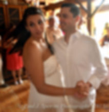 Holly and Damien share a dance during their August 2011 wedding