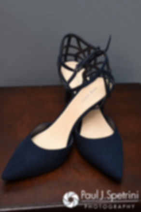 A look at Jennifer's shoes prior to her September 2016 wedding at the Roger Williams Park Temple of Music in Providence, Rhode Island.