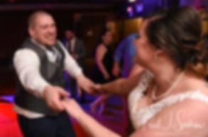 Adam & Ashley dance during their September 2018 wedding reception at Stepping Stone Ranch in West Greenwich, Rhode Island.