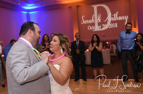 Sarah & Anthony dance during their October 2018 wedding reception at The Omni Hotel in Providence, Rhode Island.