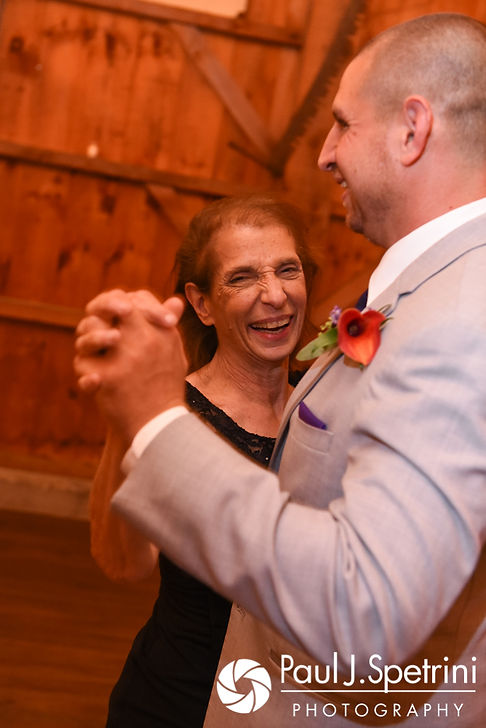 Kevin dances with his mother during his September 2017 wedding reception at Allen Hill Farm in Brooklyn, Connecticut.