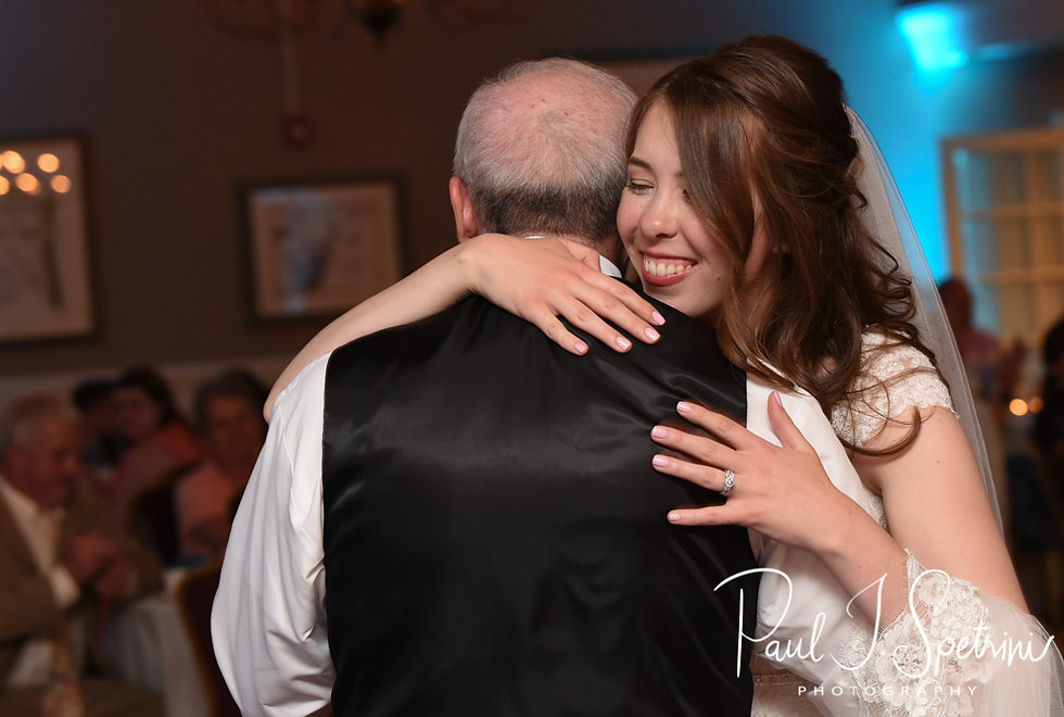 Sarah and her father dance during her June 2018 wedding reception at Pleasant Valley Country Club in Sutton, Massachusetts.