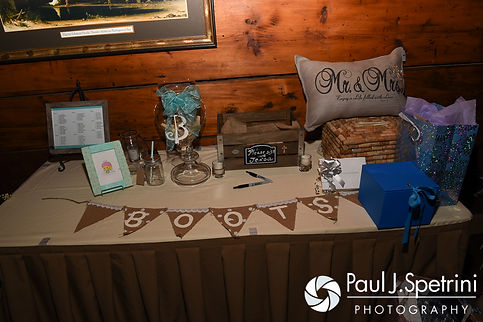 A look at the details at Krystal and Ian's May 2016 wedding reception at DeWolf Tavern in Bristol, Rhode Island.
