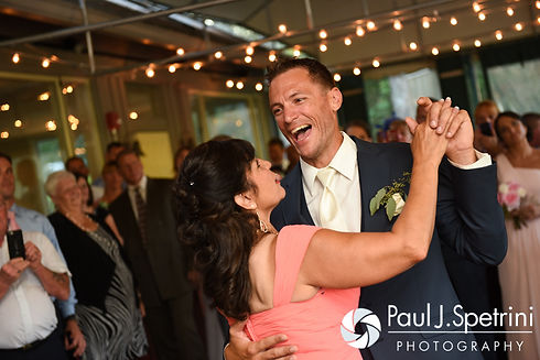 Matt dances with his mother during his August 2016 wedding at Whispering Pines Conference Center in West Greenwich, Rhode Island.
