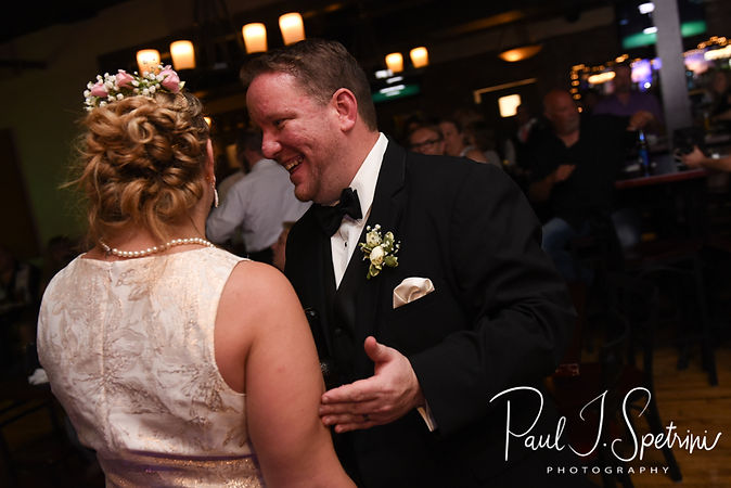 Patrick smiles during his September 2018 wedding afterparty at Pub on Park in Cranston, Rhode Island.