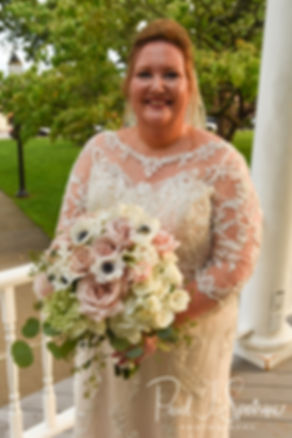 Patti smiles for a photo following her August 2018 wedding ceremony at the Walter J. Dempsey Memorial Bandstand in Norwood, Massachusetts.