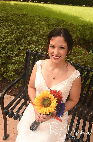 Amanda poses for a photo prior to her October 2018 wedding ceremony at the Walt Disney World Swan & Dolphin Resort in Lake Buena Vista, Florida.