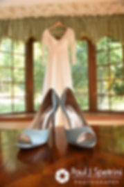 A look at Samantha's wedding dress and shoes prior to her and Dale's October 2017 wedding ceremony at St. Robert's Church in Johnston, Rhode Island.