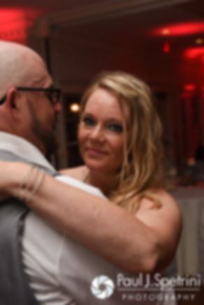 Eric and Michelle dance during their May 2016 wedding at Hillside Country Club in Rehoboth, Massachusetts.