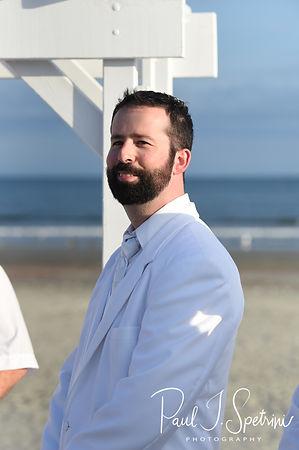 Mike sees Selah walk down the aisle during his August 2018 wedding ceremony at The Rotunda Ballroom at Easton's Beach in Newport, Rhode Island.