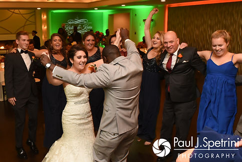 Kristina and her relatives welcome Kevin to their family during her October 2017 wedding reception at the Villa Ridder Country Club in East Bridgewater, Massachusetts.