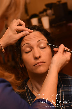 Amanda has her makeup done prior to her October 2018 wedding ceremony at the Walt Disney World Swan & Dolphin Resort in Lake Buena Vista, Florida.