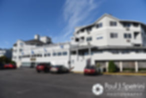 A look at the Aqua Blue Hotel in Narragansett, Rhode Island prior to Marissa and Paul's September 2016 wedding ceremony at Beavertail Lighthouse in Jamestown, Rhode Island..