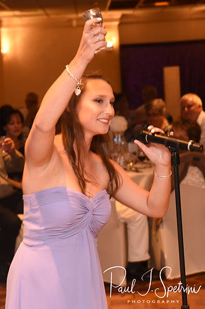 Rick's daughter gives a speech during her dad's August 2018 wedding reception at Twelve Acres in Smithfield, Rhode Island.