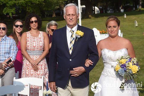 Rebecca walks down the aisle during her August 2017 wedding ceremony in Warwick, Rhode Island.