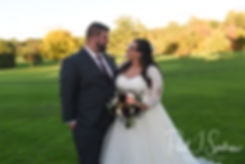 Katie & Steve pose for a formal photo following their October 2018 wedding ceremony at The Villa at Ridder Country Club in East Bridgewater, Massachusetts.
