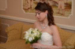Jennifer poses for a bridal portrait during her December 2012 wedding.