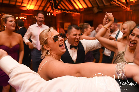 Brian and Meghan dance during their September 2018 wedding reception at Squantum Association in Riverside, Rhode Island.