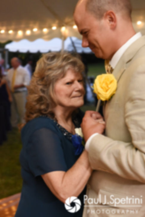 Kelly dances with his mother during his August 2017 wedding reception in Warwick, Rhode Island.