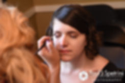 Jen has her makeup applied prior to her September 2016 wedding at the Roger Williams Park Botanical Center in Providence, Rhode Island.