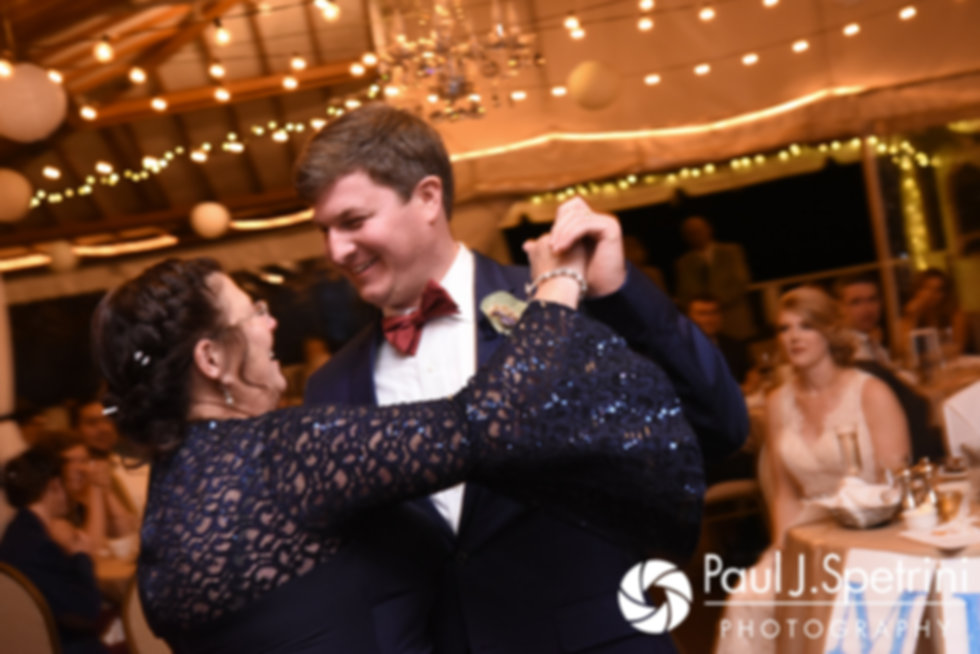 Mike and his mother dance during his October 2017 wedding reception at Castle Manor Inn in Gloucester, Massachusetts.