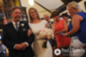 Amy walks down the aisle during her June 2016 wedding ceremony at St. Thomas More Church in Narragansett, Rhode Island.