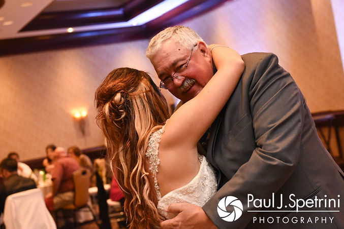 Nicky dances with her father during her September 2017 wedding reception at the Crowne Plaza Hotel in Warwick, Rhode Island.
