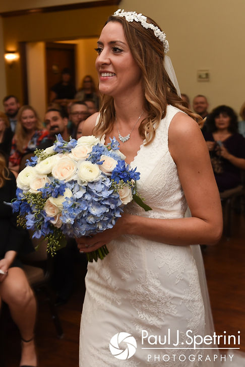 Joanna walks down the aisle during her October 2017 wedding ceremony at Cranston Country Club in Cranston, Rhode Island.
